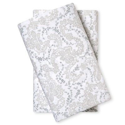 Pillow Case Set (Standard) Floral Stitch - Simply Shabby Chic®