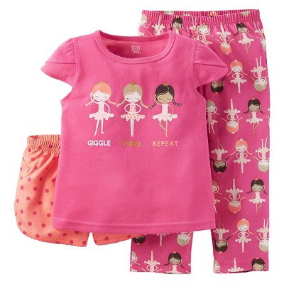 Just One You™ Made by Carter's® Baby Girls' 2-Piece Girl Print Pajama Set Pink 12M