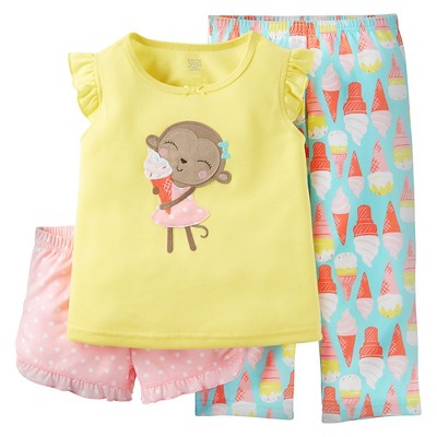 Just One You™ Made by Carter's® Baby Girls' 2-Piece Monkeys Pajama Set Flora 12M