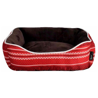"Woolrich™ Small Cuddler Pet Bed - Crimson, Ivory, Chocolate (20"" x 18"" x 6"")"