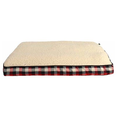 "Woolrich™ Large Gusset Pillow Pet Bed - Sand, Crimson, Chocolate (36"" x 27"" x 3"")"