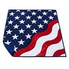 Summer 4-person Picnic Blanket Stars and Stripes - Evergreen