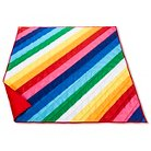 Summer 2-person Picnic Blanket Rainbow Stripes - Evergreen