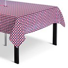 Summer Wipeable Basket Weave Tablecloth