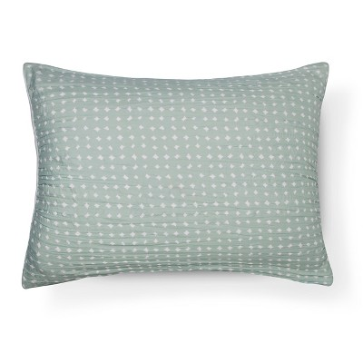 Sham Reversible Dots Standard Light Green - Room Essentials™