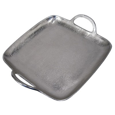 Threshold™ Casted Metal Square Tray - Silver