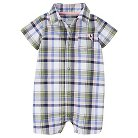 Just One You™Made by Carter's® Baby Boys' Plaid Romper - Blue NB