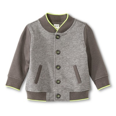 Baby Boys' Varsity Jacket Radiant Gray/Earth Gray 3-6M - Cherokee®
