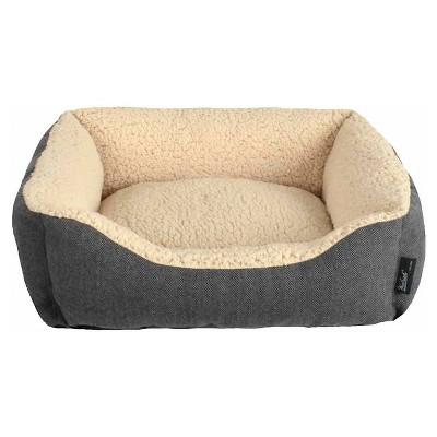 "Woolrich™ Small Cuddler Pet Bed - Ebony, Radiant Gray (20"" x 18"" x 6"")"
