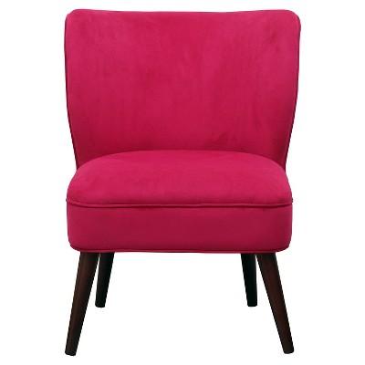 Lauren Curved Back Slipper Chair - Velvet Pink