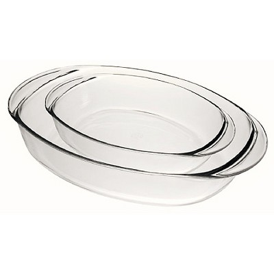 Duralex  - 2-pc Oval Set - Clear