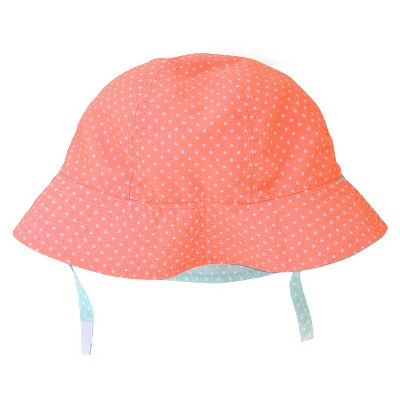 Baby Girls' Polka Dots Print Reversible Floppy Hat Blue/Pink 6-12M - Circo™