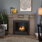 Real Flame Adelaide Gel Fireplace - Dry Brush White