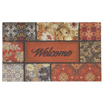 """Mohawk Floral in the Fall Welcome Doormat - Multi-Colored (18""""x30"""")"""