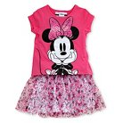 Minnie Mouse Toddler Girls' Tunic/Skirt Set - Pink 5T