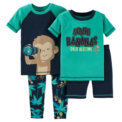 Baby Boys' Snug Fit Cotton 4-Piece Pajama Set 12M - Just One You™ Made by Carter's®
