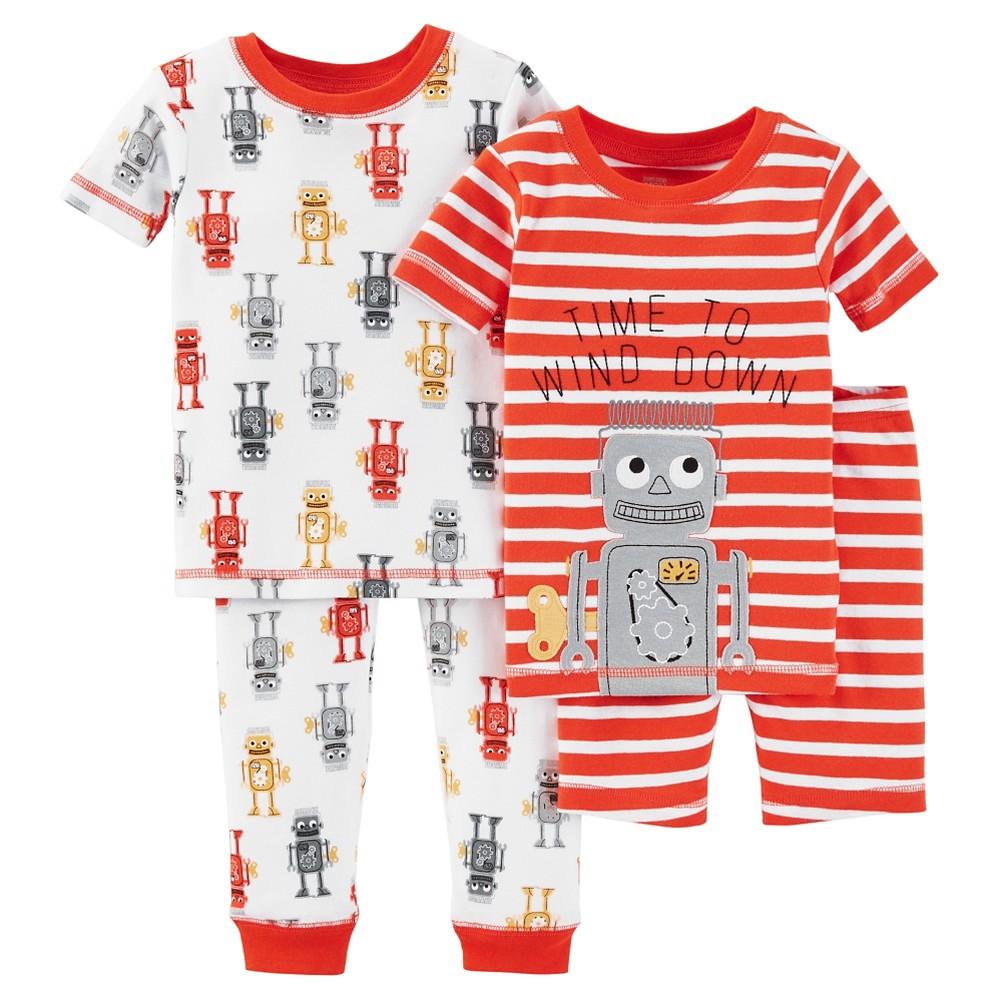 Baby Boys' Snug Fit Cotton 4-Piece Pajama Set 9M - Just One You Made by Carter's, Infant Boy's, Size: 9 M, Sweet Potato Orange