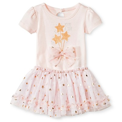 Baby Starters 2 Piece Star Bodysuit & Tutu Skirt Set - Pink 3 M