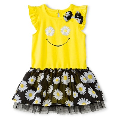 Baby Starters Bodysuit with attached Tutu - Yellow/Black 9 M