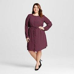 Women's Plus Size Printed Shirt Dress - Merona™