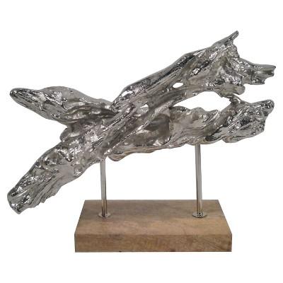 Decorative Figurine Threshold Silver Aluminum