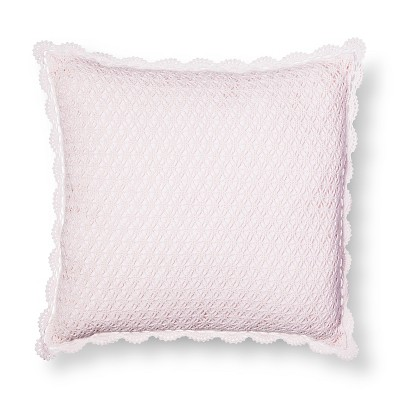 Crochet Square Pillow - Pink - Simply Shabby Chic®