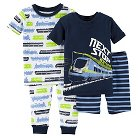 Toddler Boys' Snug Fit Cotton 4-Piece Pajama Set - Just One You™ Made by Carter's®