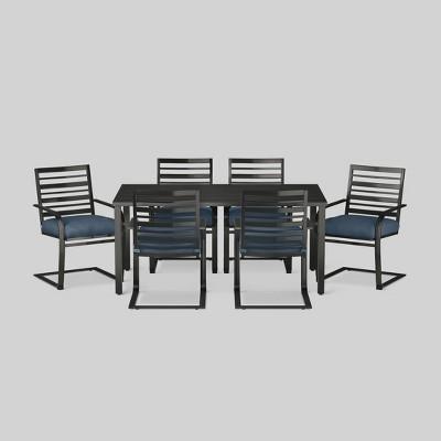 Ft. Walton 7-Piece Motion Patio Dining Set - Navy - Threshold™