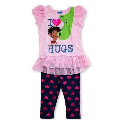 Good Dinosaur Baby Girls' Tunic and Capri Pant Set - Pink/Blue 12M
