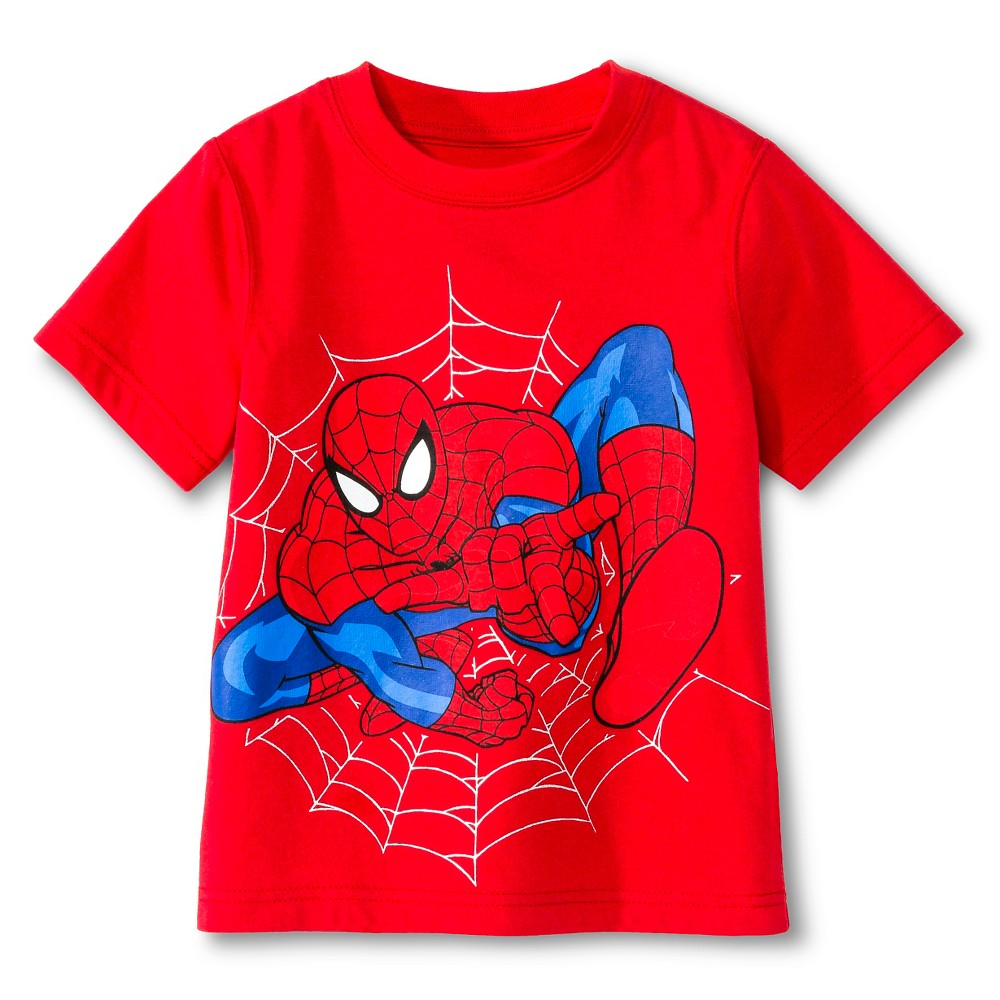 Toddler Boys' Spiderman Tee Shirt - Red 4T, Toddler Boy's