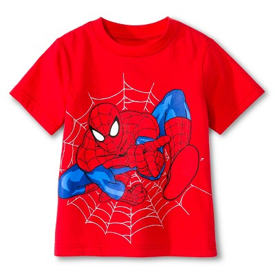 Toddler Boys' Spiderman Tee Shirt - Red 12M