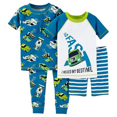 Baby Boys' Snug Fit Cotton 4-Piece Pajama Set - Just One You™ Made by Carter's®