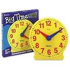 Learning Resources Big Time Learning Clocks 12-Hour Demonstration Clock for Grades K-4