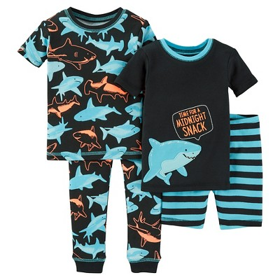 Baby Boys' Snug Fit Cotton 4-Piece Pajama Set 9M - Just One You™ Made by Carter's®