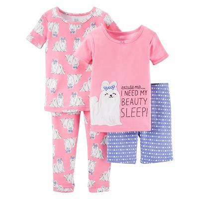 Baby Girls' Snug Fit Cotton 4-Piece Pajama Set 12M - Just One You™ Made by Carter's®