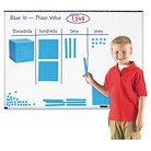 """Learning Resources Giant Magnetic Base Ten Set, 6.75""""L x 6.75""""H, Blue"""