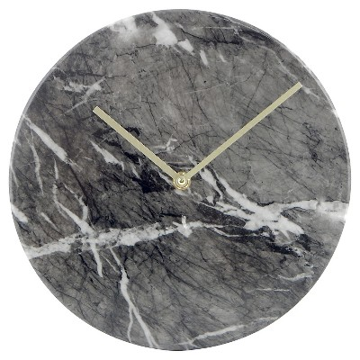"Faux-Marble Wall Clock Black 10"" - Threshold™"