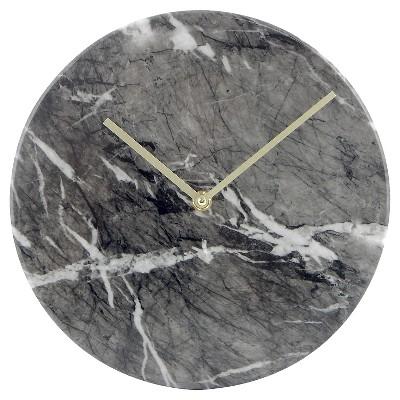 "Faux-Marble Wall Clock Black 10"" - Threshold™"