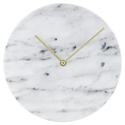 "Faux-Marble Wall Clock White 10"" - Threshold™"