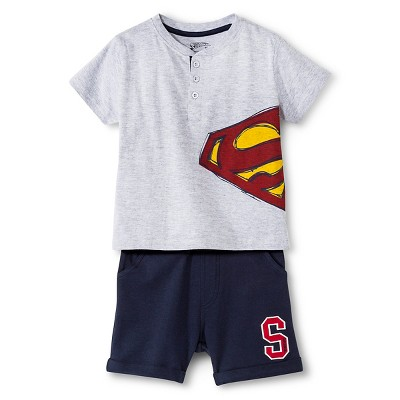 Baby Boys' Superman™ Top and Bottom Set - Gray 18 M