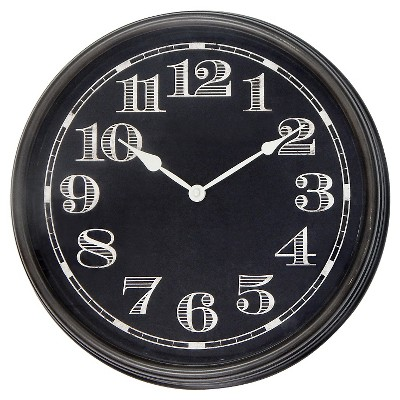 "Wall Clock Black 16"" - Threshold™"