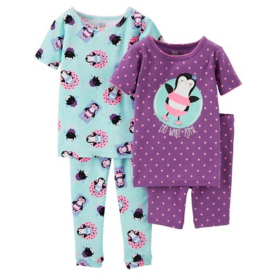 Baby Girls' Snug Fit Cotton 4-Piece Pajama Set 18M - Just One You™ Made by Carter's®