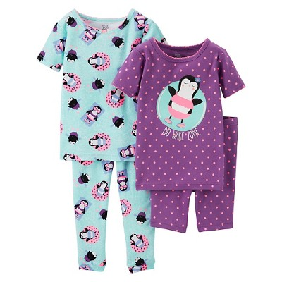 Toddler Girls' Snug Fit Cotton 4-Piece Pajama Set 2T - Just One You™ Made by Carter's®