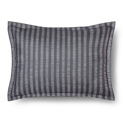 Sham Striped Gray Standard - Room Essentials™