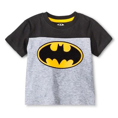 Toddler Boys' Batman Tee Shirt - Gray 2T