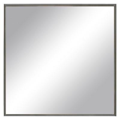 """Square Metal Mirror Pewter 24"""" -Threshold™"""