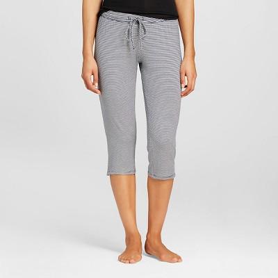 Women's Sleepwear Knit Crop Pant Navy Stripe X - Gilligan & O'Malley®