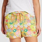 Women's Plus Size Gauze Sleep Short Yellow Floral 3X - Xhilaration™