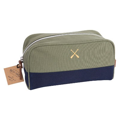 Toiletry Kit Green Stripe West Emory