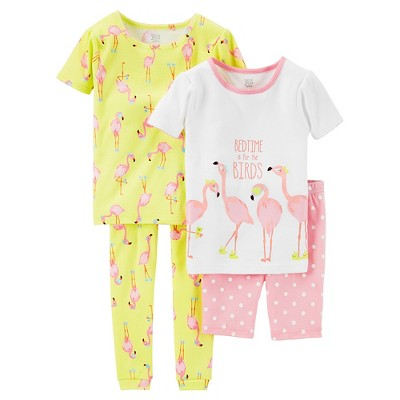 Baby Girls' Snug Fit Cotton 4-Piece Pajama Set 9M - Just One You™ Made by Carter's®